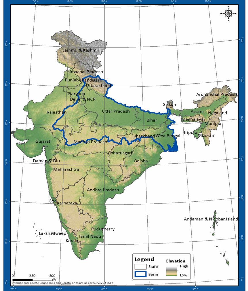 Top Map Of Ganges River In India Pictures - Printable Map - New ...